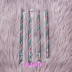 Starbucks 2020 Holiday Striped Straws